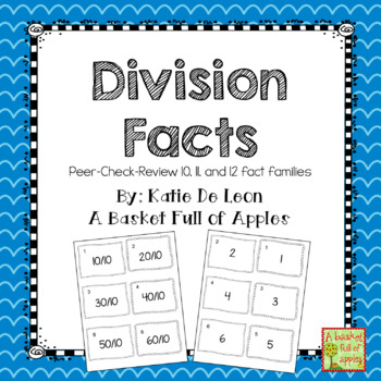 Division Fact Families 10,11 and 12: Cooperative Learning