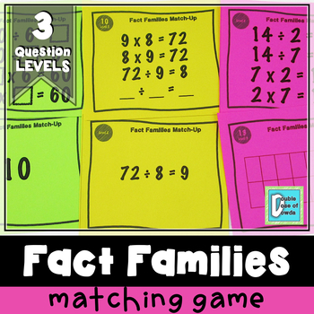 Division Fact Families Match-Up Cards