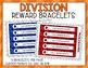 Division Fact Punch Cards, Certificates, Reward Bracelets