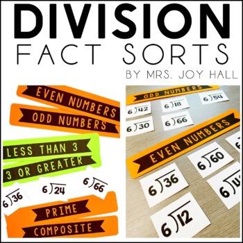 Division Fact Sorts