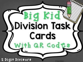 Division Facts (2 Digit Divisor) Task Cards for Big Kids w