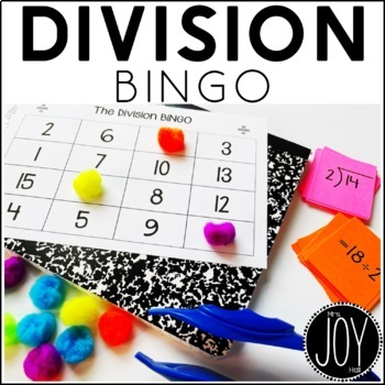Division Facts BINGO 1-12 - 12 Different Games - Separated