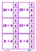 Division Facts Times Table Clip Cards, Autism & Special Ed