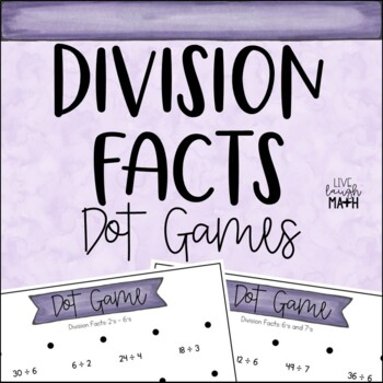 Division Facts Dot Games
