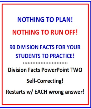 Division Facts FREE PREVIEW Powerpoint TWO