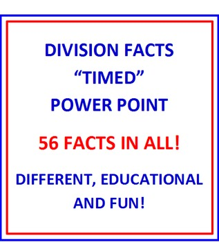 "Division Facts FREE ""Timed"" Power Point PREVIEW"