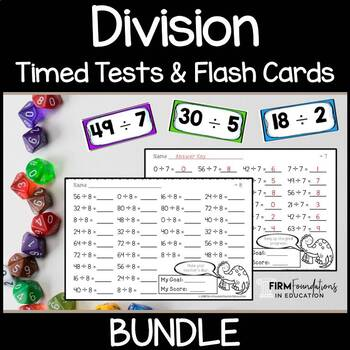 Division Flash Cards and Timed Tests Resource Pack