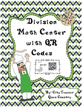 Division Facts Math Center/Task Cards with QR Codes