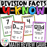 Division Facts Game for Math Centers or Stations