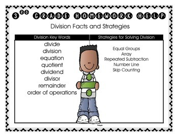 Division Facts and Strategies Homework Helper