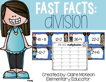 Basic Division: Fast Fact Scoot