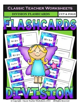 Division Flashcards-Facts to 10-Cut & Fold Flashcards-Grad