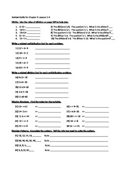 Division Foundations Study Guide and Test