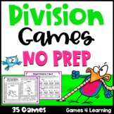 Division Games NO PREP Math Games for Division Facts