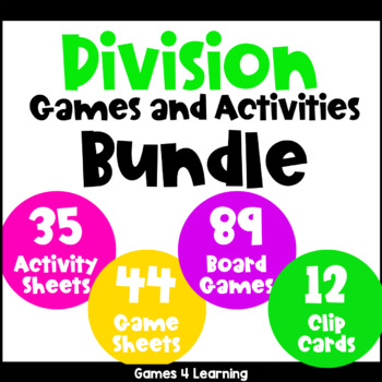 Division Games and Activities for Division Facts Bundle