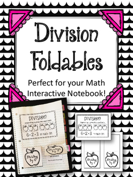 Division Interactive Notebook Pieces. Dividing by 0 and 1