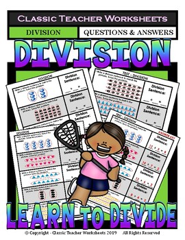 Division -Write a Division Sentence to Match Pictures Grad