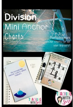 Division Mini Anchor Charts: Whole Numbers