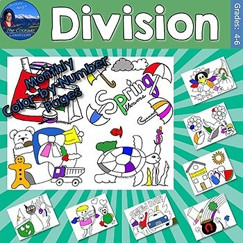 Division Monthly Color by Number Pages