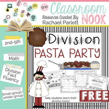 FREEBIE: Division Pasta Party - {Practice for Division Fac