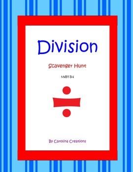 Division QR Code Scavenger Hunt - 5.NBT.B.6 Fifth Grade Co