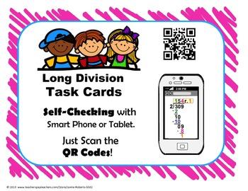 Division QR Code Task Cards