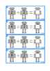 Robots Times Table Division Facts Write & Wipe, Autism, Sp