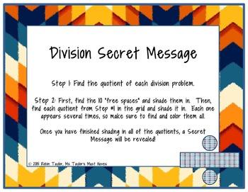 Division Secret Message (Long Division Practice)