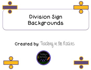 Division Sign Backgrounds - Freebie