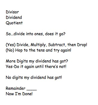 Division Song---1-Digit Divisors With Practice Problems