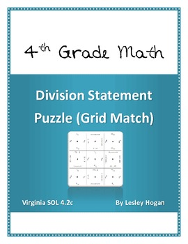 Division Statement Puzzle (Grid Match)