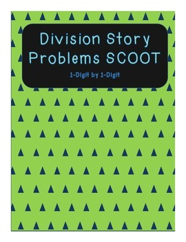 Division Story Problem SCOOT (1-Digit by 1-Digit)