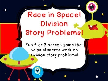 Division Story Problems Common Core Race in Space Center G