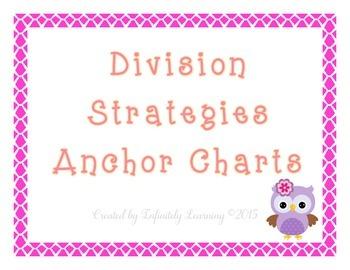 Division Strategies Anchor Charts