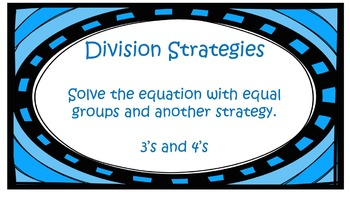 Division Strategies Worksheet