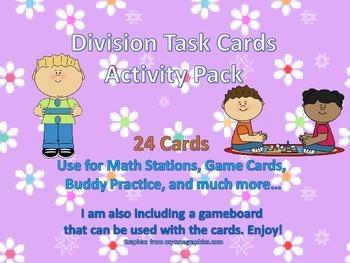 Division Task Cards Activity Pack
