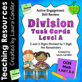 Division Task Cards (with QR Codes) Level A