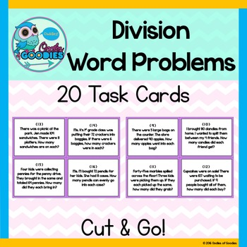 Division Task Cards (Word Problems)