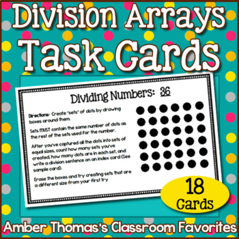 Division Task Cards for Breaking Down Numbers