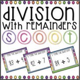 Division With Remainders SCOOT! Game, Task Cards or Assessment