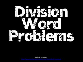 Division Word Problems PowerPoint