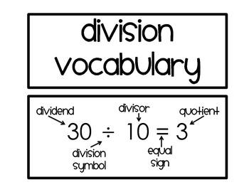 Division Word Wall
