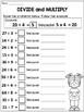 3rd Grade Division Worksheets for Homework or Morning work