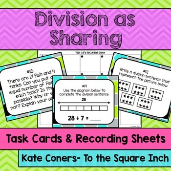 Division as Sharing Task Cards