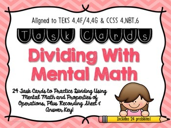 Division with Mental Math & Place Value Patterns Task Card
