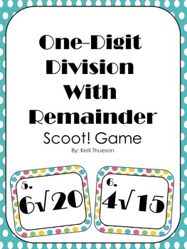 Division with Remainder Scoot Game