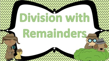 Division with Remainders Task Cards Detective Theme