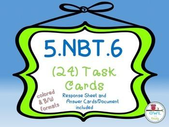 Division (5.NBT.6) Task Cards
