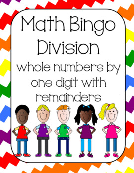 Division with one digit divisor (with remainders)