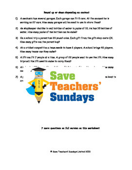Division word problems with remainders worksheets (4 level